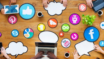 Multiethnic People with Social Media